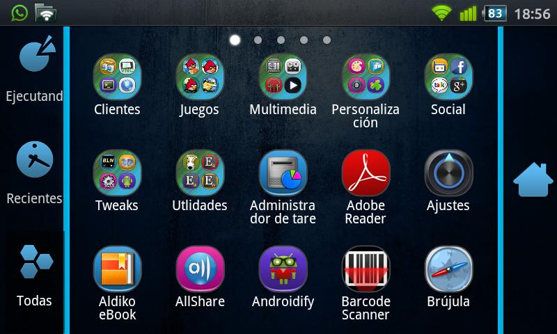 GO Launcher EX Uebdisain Theme - screenshot