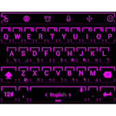 Theme TouchPal Neon 2 Purple