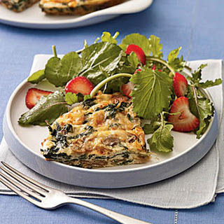 Mushroom and Spinach Frittata With Smoked Gouda.