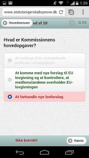 Statsborgerskab test