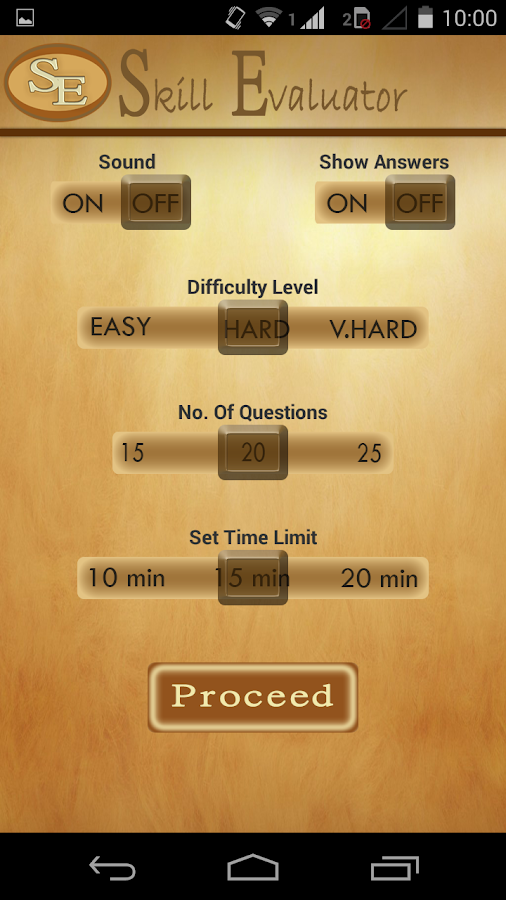 Skill Evaluator- screenshot