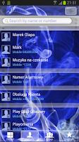 Screenshot of GO Contact Blue Smoke Theme