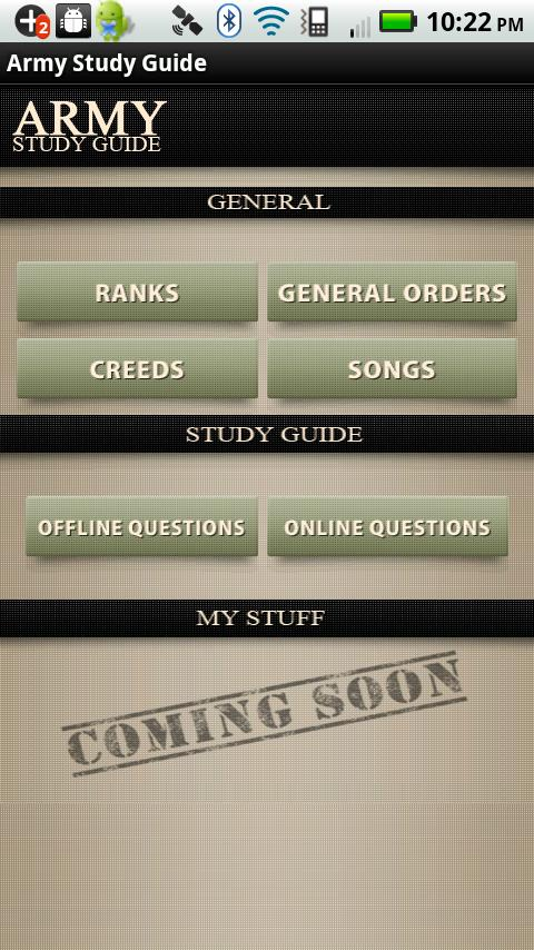 Army Study Guide - screenshot