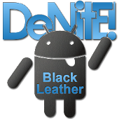 Leather Blue CM10 Theme Free