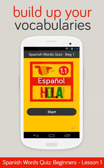Spanish Words Quiz - Beg 1 - screenshot