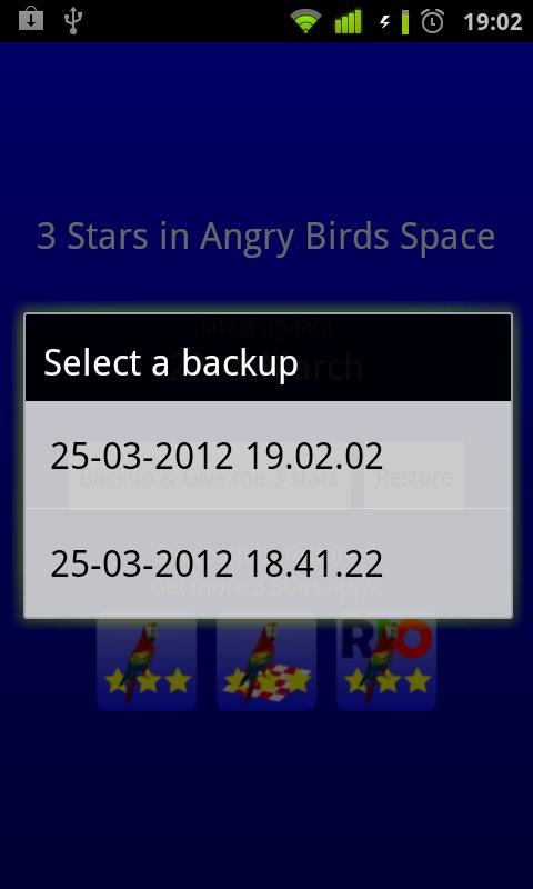 3 Stars in Birds Space- screenshot