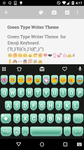 Green Type Writer Keyboard