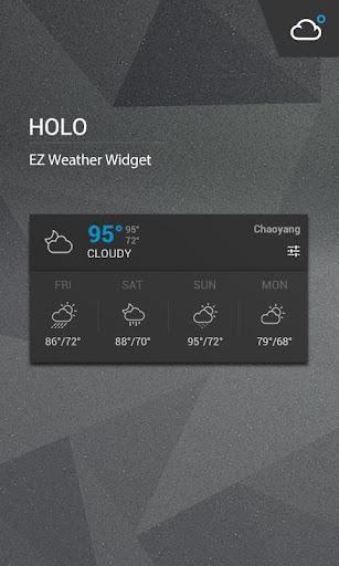 Holo Notification Weather styl