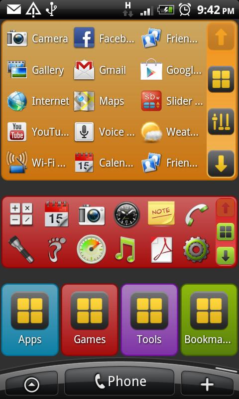 Slider Box - Apps Organizer- screenshot