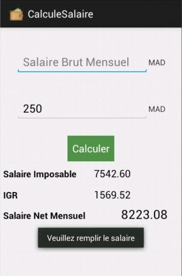 calcul salaire brut net maroc android apps on play