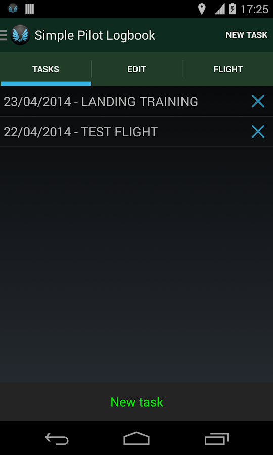 Simple Pilot Logbook- screenshot