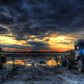 TIME TO REST by Anand Lepcha - Transportation Automobiles ( hdr, truck, sunset, beauty, landscapes, nikon, eyes )