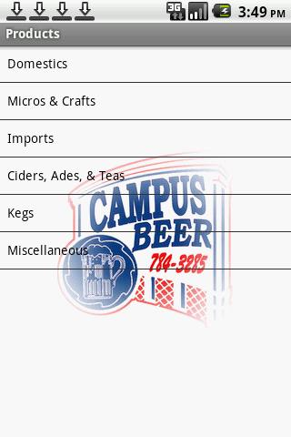 Campus Beer Distributors LLC - screenshot