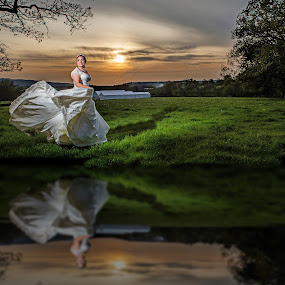 Reflection  by Martin Hill - Wedding Bride ( wedding photographer bath, wedding photographer london )
