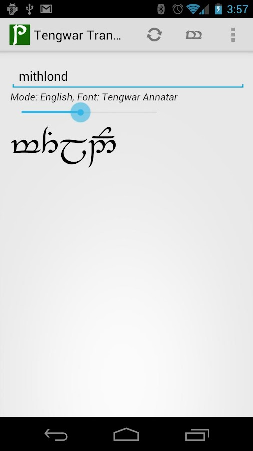 Tengwar Transcriber- screenshot