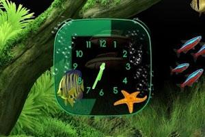 Screenshot of Aquarium Clock widget