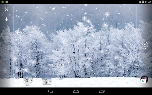 雪人動態桌布