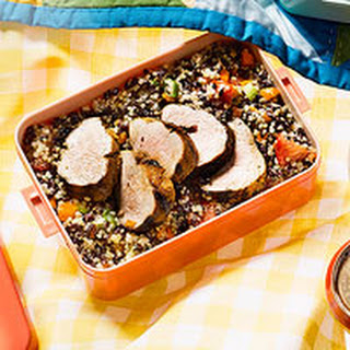 Grilled Pork with Rice & Quinoa Salad.
