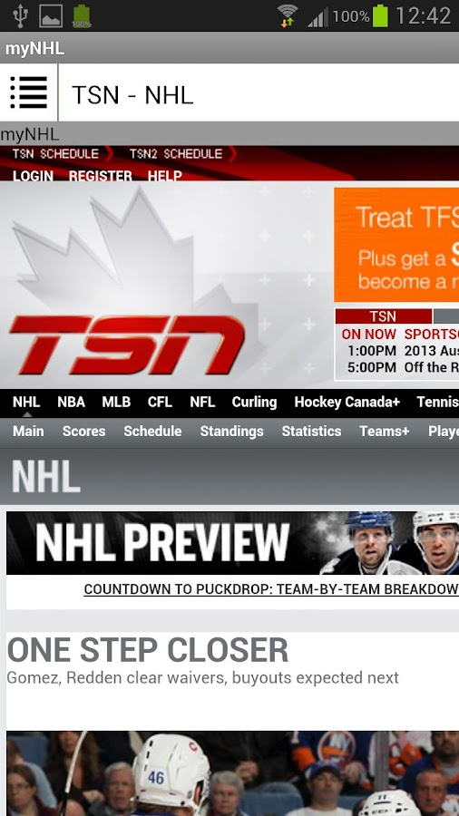 my NHL - screenshot