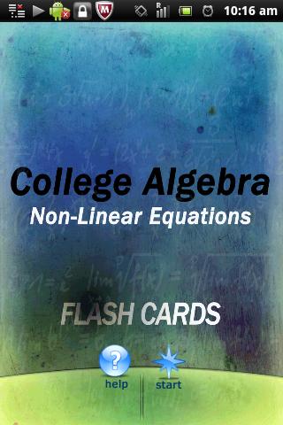 Algebra Non-Linear Equations