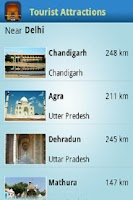 Screenshot of Tourist Attractions Near Delhi