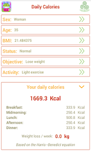 Daily Calories - Lose Weight