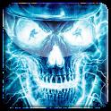 Neon Skull FBI Live Wallpaper icon