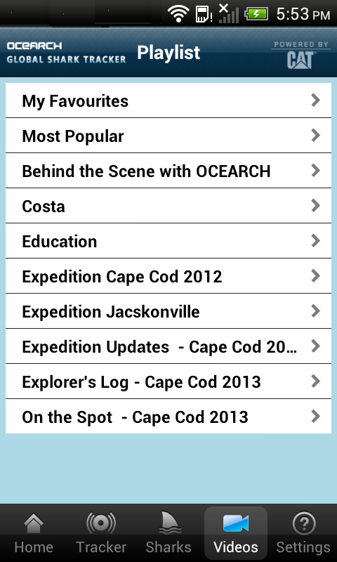 Global Shark Tracker - screenshot