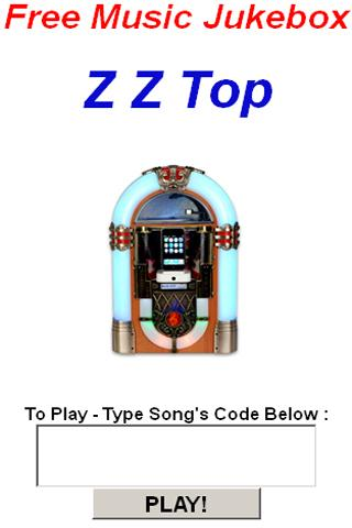 Z Z Top JukeBox - screenshot
