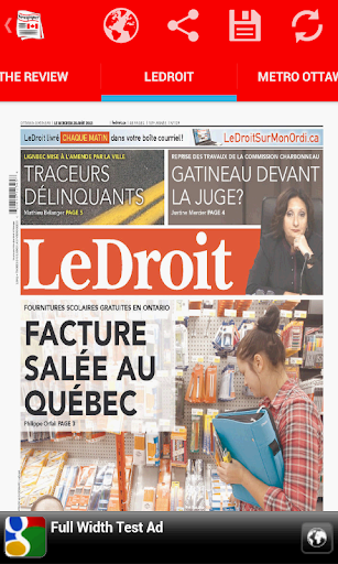 Front Pages of Canada
