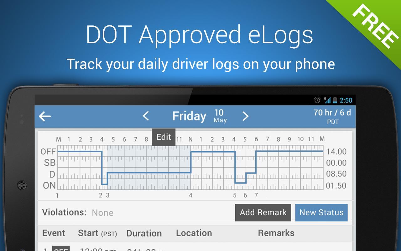 Trucker Logbook - KeepTruckin - screenshot