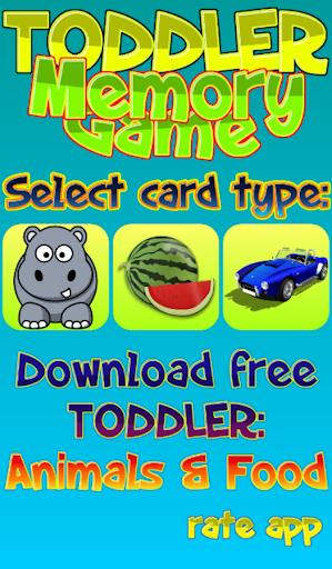 Toddler Memory Game - Match
