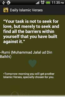 Daily Islamic Verses Free - screenshot thumbnail