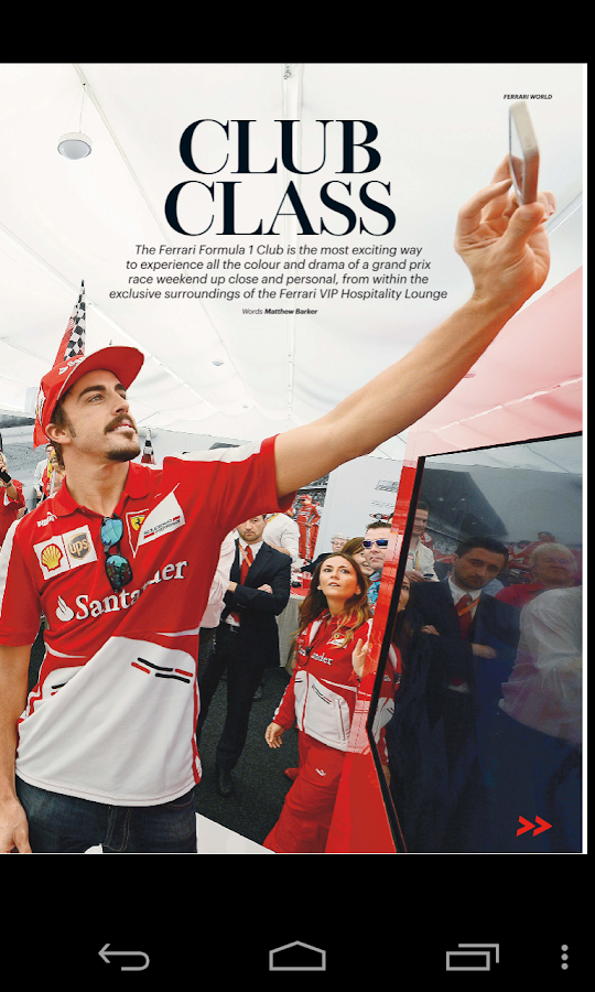 The official Ferrari Magazine - screenshot