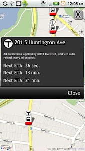 Boston Bus Tracker MBTA screenshot 1