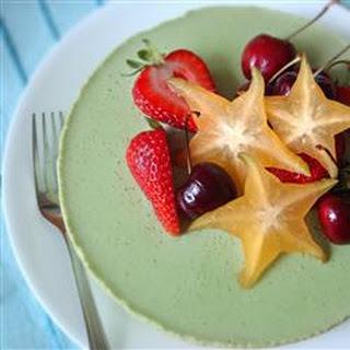 Green Tea Mousse Cheesecake.