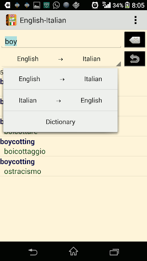 English Italian Dictionary