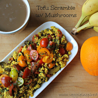 Tofu Scramble with Mushrooms.