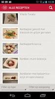 Screenshot of Vier Recepten