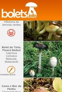 Bolets.info la guia de bolets- screenshot thumbnail
