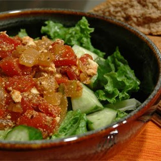 Chickpeas in Tomato Sauce With Feta and Wine