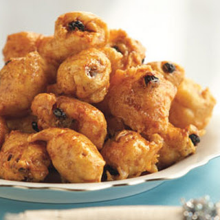 Honey-Glazed Doughnuts with Raisins and Pine Nuts.