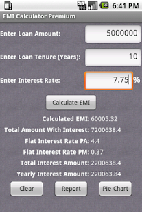 EMI Calculator Premium- screenshot thumbnail