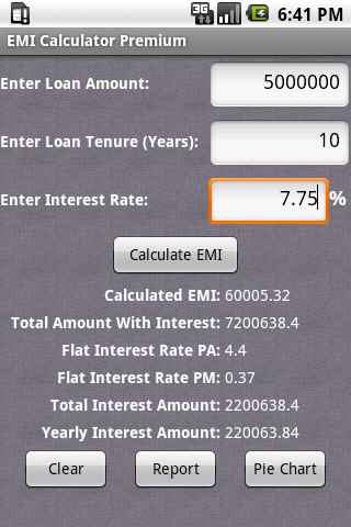EMI Calculator Premium- screenshot