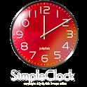 シンプルアナログ時計ウィジェット【RED】 icon