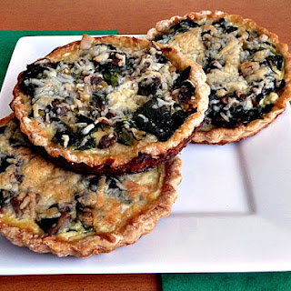 Mini Spinach Arugula Quiches