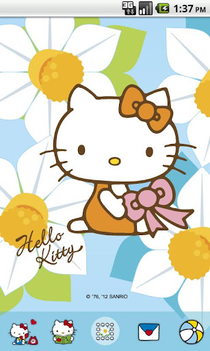 Hello Kitty White Flower Theme