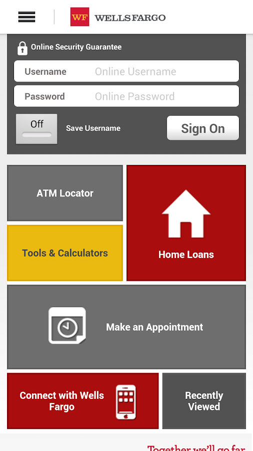 Wells Fargo Mobile- screenshot