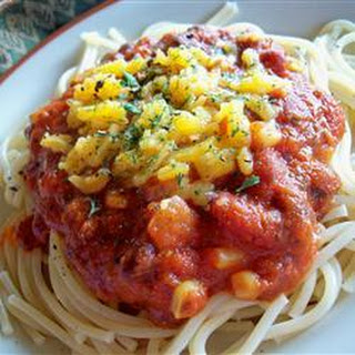 Southwestern Corn and Black Bean Spaghetti