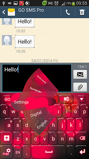 Hearts Keyboard